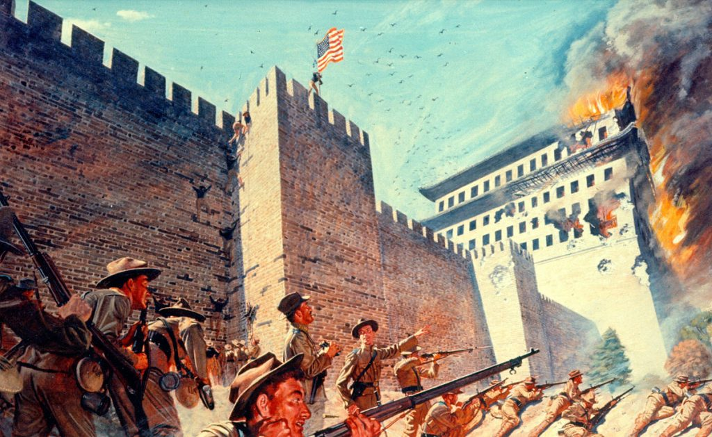 Boxer rebellion in Manchuria